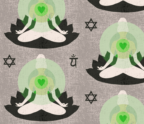 Opening my heart chakra for you fabric by lucybaribeau on Spoonflower - custom fabric