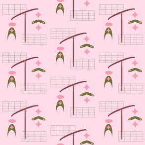 Midcentury Mobile | Pink Morning