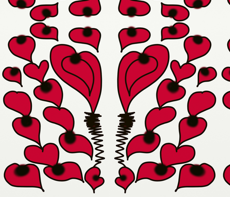 The Hearts of Love fabric by a__herrera on Spoonflower - custom fabric