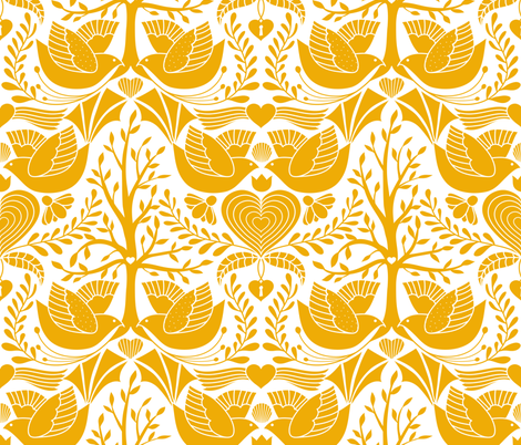 valentine tree of life damask   fabric by vo_aka_virginiao on Spoonflower - custom fabric