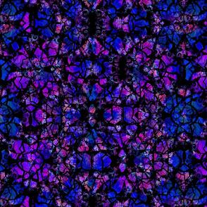 Cracked Fractal - Blue & Purple