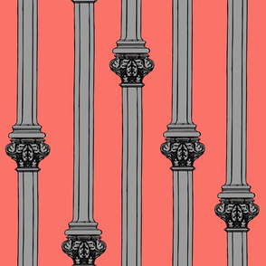 columns on living coral
