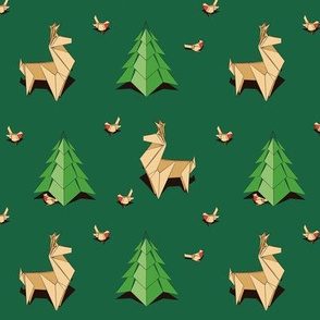 Origami Reindeers
