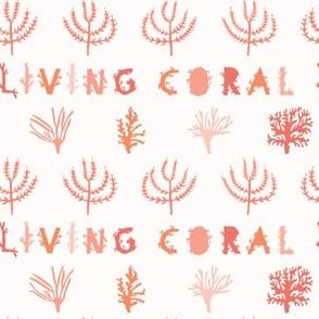 Vector Living Coral Color of the Year 2019