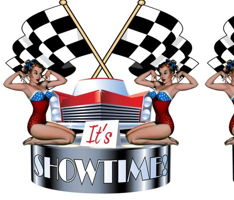 Rockabilly Race Car Show fabric by fabric_is_my_name on Spoonflower - custom fabric
