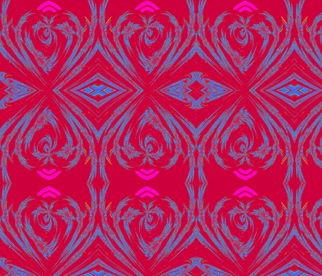 high heart red fabric by jennene on Spoonflower - custom fabric