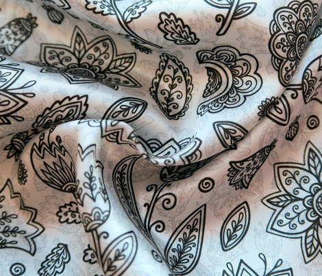 Ink flowers pattern