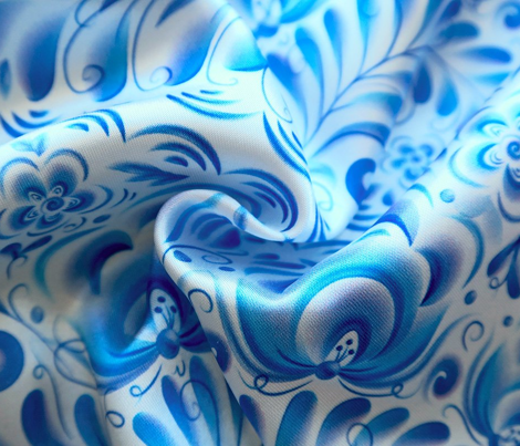 Gzhel lines pattern