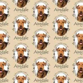 Airedale Fabric Wallpaper Gift Wrap Spoonflower