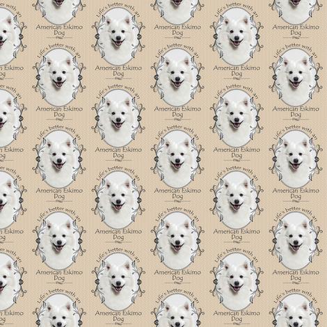 American Eskimo Dog fabric by pateisen on Spoonflower - custom fabric