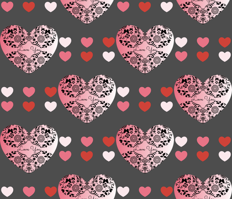 Love You Valentine fabric by texas_soul on Spoonflower - custom fabric