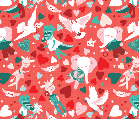 Be my valentine fabric by camcreative on Spoonflower - custom fabric
