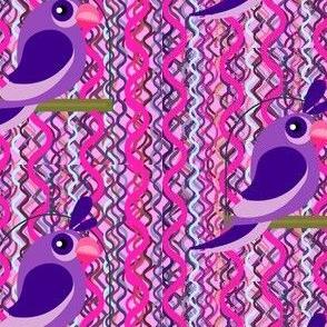 Purple Bird on Snakeskin