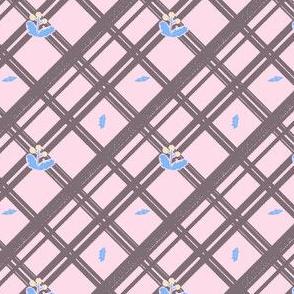 Dandelion Bias Plaid in Pastels