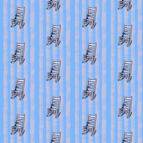 Rocking Chair Stripe in Pastels