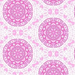 Pink Sweetheart Lattice on Dainty Lace