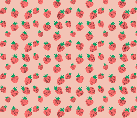 Strawberries Small fabric by atate on Spoonflower - custom fabric