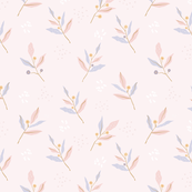 Pastel color texured leaves-Blush
