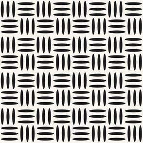Weave - Black, H White