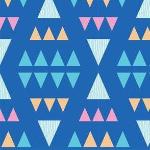 Symmetry Triangle Blue