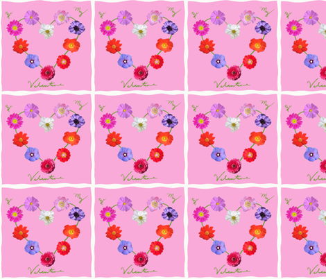 Be My Valentine Quilt fabric by teawithxanthe on Spoonflower - custom fabric