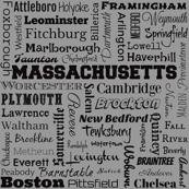 Massachusetts cities, standard gray