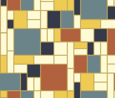 Mondrian in bayeux hues fabric by weavingmajor on Spoonflower - custom fabric