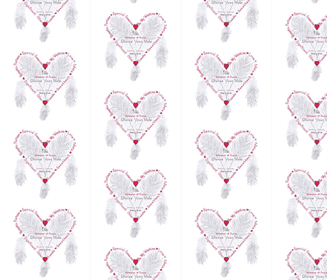 Be_My_Valentine_Chaucer fabric by marble_gardeners on Spoonflower - custom fabric