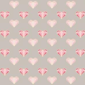 Pink Geometric Hearts