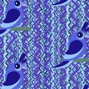 Blue Bird on Snakeskin