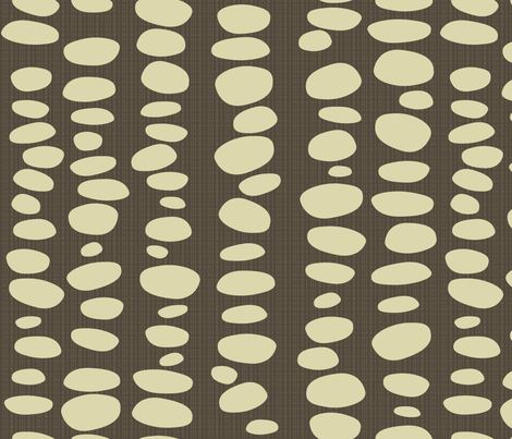 umber-ivory-dots fabric by wren_leyland on Spoonflower - custom fabric