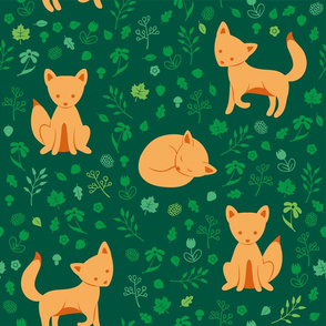 Fox pattern - green