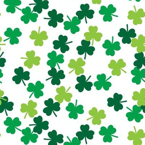 shamrocks (multi colored) - st patricks day