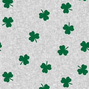 shamrock on grey - st patricks day