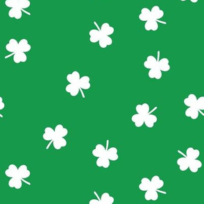 shamrock on green - st patricks day