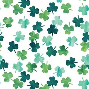 watercolor shamrocks  - st patricks day