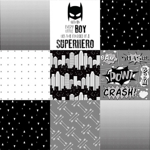 Superhero//Boy - Wholecloth Cheater Quilt