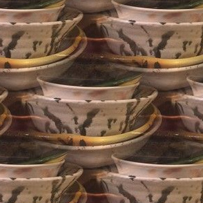 Handcrafted Bowls | Seamless Pottery Photo Print