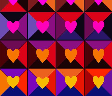 Box of Valentines fabric by vagabond_folk_art on Spoonflower - custom fabric