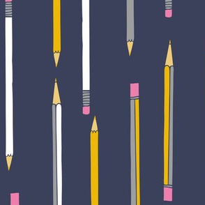 yellow pencils pens back to school STEM drawing