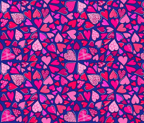 Heart Explosion fabric by gcatmash on Spoonflower - custom fabric