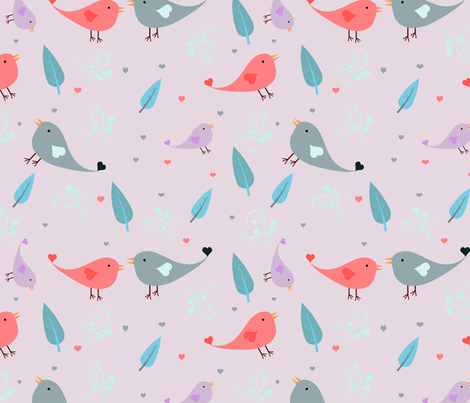 Love Birds fabric by redesignedclassics on Spoonflower - custom fabric