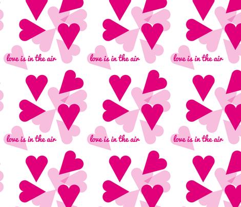 Be my valentine - love fabric by alandco on Spoonflower - custom fabric