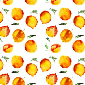 Sweet peach || watercolor fruit pattern