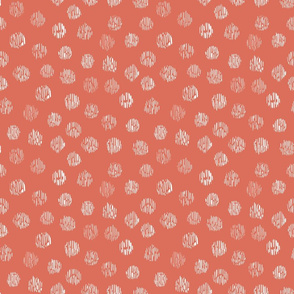 spotty faux fur animal print in strawberry red