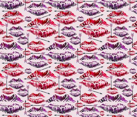 lips vday fabric by dreneewilson on Spoonflower - custom fabric