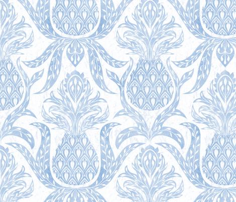Modern farmhouse pineapple decor light blue  fabric by vo_aka_virginiao on Spoonflower - custom fabric