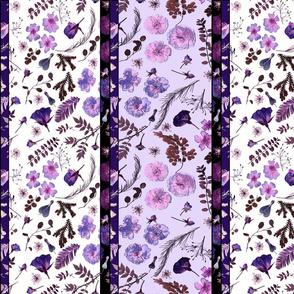 boho rose borders lilac