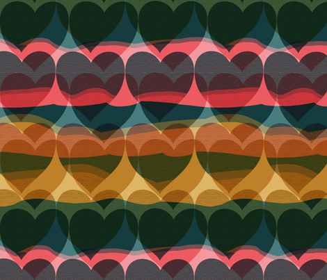 hearts fabric by doubledot on Spoonflower - custom fabric