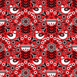 Scandinavian Spring (Red)